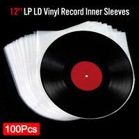 "100 LP Vinyl Record Inner Sleeves Anti Static Round Bottom for 12"" 33 RPM Album"