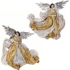 Flying Angel Figures Christmas Decoration Set 2 rzchga 3540229 NEW RAZ