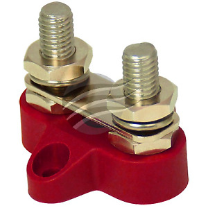 Dual Stud Distribution positive Terminal Red linked Battery Post 8mm Stainless