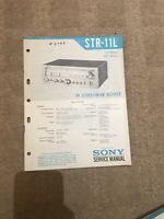 Sony STR-11L service manual For Radio /stereo Tuner