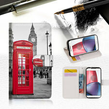 British phone Booth Wallet TPU Case Cover For Motorola Moto X Force-- A024