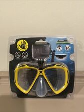 Body Glove Snorkel Swimming Goggles Mask with GoPro Camera Mount Yellow Adult