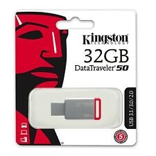 Pendrive 32GB Kingston 32 GB USB 3.0 3.1 - DT50/32GB
