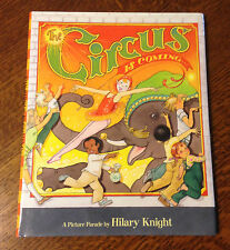 RARE DOUBLE SIGNED!! Hilary Knight Paul Binder THE CIRCUS IS COMING '07 1st/1st!