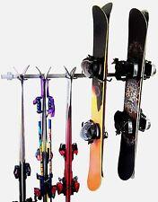 Ski and Snowboard Rack Hanger Display Garage Wall Organizer Monkey Bar Storage
