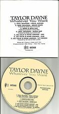 TAYLOR DAYNE Whatever You Want 7TRX w/RARE MIXES & DUBS PROMO DJ CD single 1996