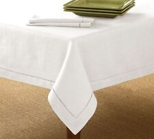 Pottery Barn Hemstitch Table Top Tablecloth Linen 70x90 Biege