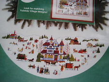 Christmas Dimensions Counted Cross Tree Skirt KIT,YULETIDE VILLAGE,Wysocki,8418