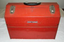 Vintage Craftsman 6536 Red Hip-Roof Cantilever Toolbox Made in USA 1980s