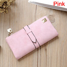 Women Leather Long Purse Ladies Clutch Coin Phone Bag Wallet Card Holder  LD