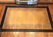 Floorcloth 3x5  Hand Painted Canvas Primitive Area Rug Floor Cloth Oilcloth Mat