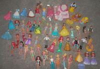 Polly Pocket disney dolls 60 pieces disney belle jasmin meridia cinderella