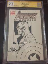 9.8 CGC SS Avengers Assemble #1 Original Art Sketch Cover & Signed Neal Adams Comic Art