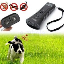Ultrasonic Dog Chaser Stop Aggressive Animal Attacks Repeller With Flashlight GW