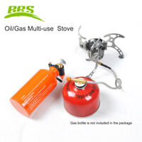 BRS-8 Gas/Oil Multi-use Camping Stove Set 3000W Portable Burner with Oil Bottle