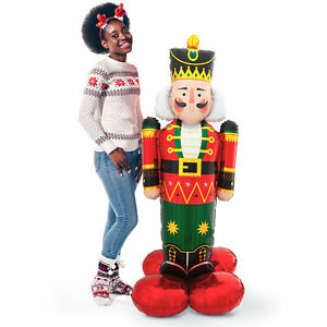 """Christmas Party Airloonz Nutcracker Giant 61"""" Air Filled Foil Balloon Decoration"""