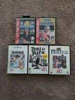 Sega Genesis Games Lot Techmo Super Bowl 5 games *untested As is*