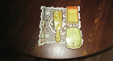Antique Celluloid Vanity  Shoe Horn, Shoe Button Hook and Box