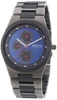 Bering Men's Chronograph Matte Black Ceramic Stainless Steel Watch 32339-788