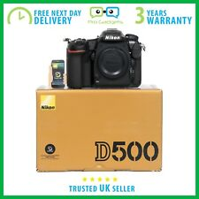 New Nikon D500 20.9MP DX DSLR Camera Body - 3 Year Warranty - Multiple Languages