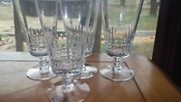 Tiffin Williamsburg Crystal Ice Tea Glasses Goblets 17201 Elegant Stems 4 10 oz