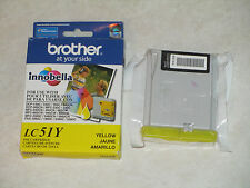 2 Genuine Brother LC51 Yel, BlK innobella Color Ink Cartridges. Exp: 2014.Steal!