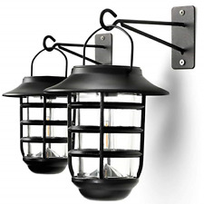 Home Zone Security Solar Wall Lantern Lights - Outdoor 3000K Solar Lantern with