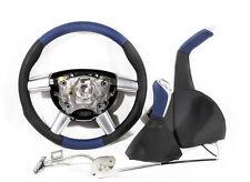04-06 GTO Black & Blue Steering Wheel, Shift Knob, & E-Brake NEW GM NOS 92209660