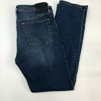 Blanknyc Stanton Jeans Mens 33 Blue Straight Leg Cotton Stretch Medium Washed