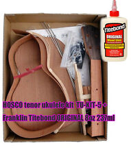 HOSCO tenor ukulele kit TU-KIT-5 + Franklin Titebond ORIGINAL 8oz 237ml SET F/S