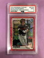 2020 Bowman Chrome Adley Rutschman RC Rookie Red Shimmer Refractor /5 PSA 9 MINT
