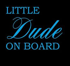 Little Dude on Board Baby Vinyl JDM Ute Car 4x4 Decal Sticker Gift Funny Sign