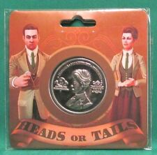 "Official BioShock Infinite Robert & Rosalind Lutece Collectible 1.5"" Coin SEALED"