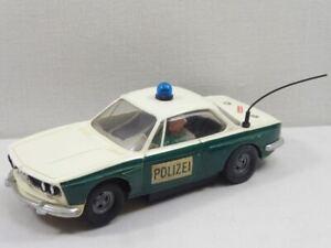 """Carrera Universal 132 BMW 3,0CSL Polizei """"mit Tankstutzen"""" Nr.40424 GUT! (F6881)"""