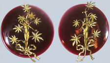 French Majolica Plaques 19th Century Pair