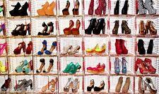 WHOLESALE LOT 250 Pair Womens Fashion High Heel Platform Wedge Pumps Boots shoes