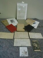 Lot of Vintage School Related Ephemera-Graduation-Courses-Report Cards-College