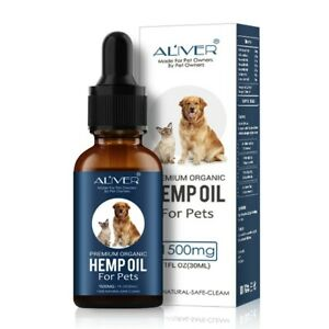 100% Premium Organic Hemp Oil For Dogs + Cats + Other Pets. 30ml / 1500mg