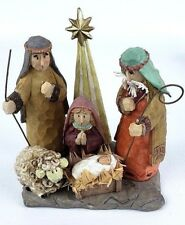 Dicksons Nativity Scene Faux Carved Wood Look