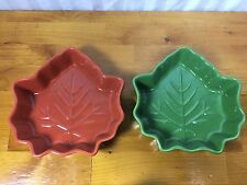 Celebrate It Bakeware Give Thanks Fall Leaf Leaves Dishes