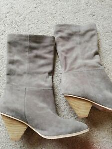 UK 4.5 Jeffrey Campbell Grey Senita Pull On Slouch Boots (might fit a 5?)