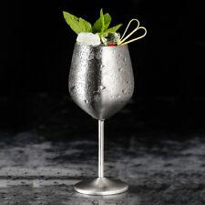 44d217a1d1d 2Pcs 500-600ml Shatterproof 304 Stainless Steel Wine Glasses Goblets  -Copper UK
