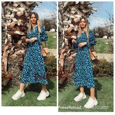 ZARA NEW FLORAL PRINT LONG DRESS SIZE XS