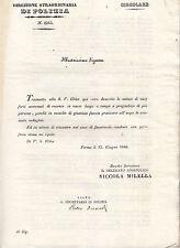S492-STATO PONTIFICIO-CIRCOLARE DI POLIZIA VARI FURTI