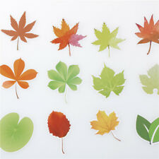 46x Diy Leaf Paper Stickers Flakes Romantic Love For Diary Decor Scrapbooking FL