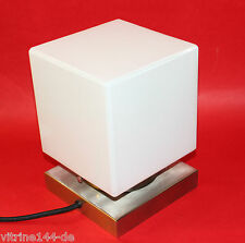 Bauhaus Lampe de table cube cube Gispen design années 20er carrée socle