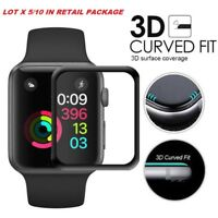 lot 5/10 FULL Tempered Glass Screen ProtectorApple Watch 38mm 42mm 40mm 44mm 4G