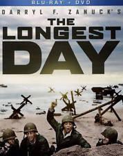 The Longest Day Blu-Ray + DVD NEW Sean Connery Richard Burton John Wayne