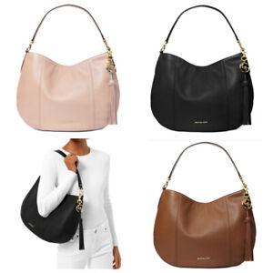 Michael Kors Brooke Pebbled Leather Large Shoulder Hobo Bag
