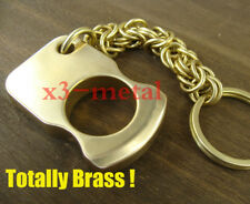 Totally brass Handmade EDC survival escape tool keychain ring heavy duty pendant